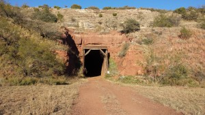 The trail a 530 foot tunnel. The bats were not in the tunnel today. They must leave when the weather gets cooler.