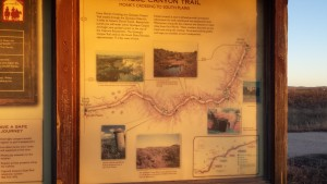 Trail maps were located at the trailheads. These were at Monks Crossing about 5 miles south of Quitaque